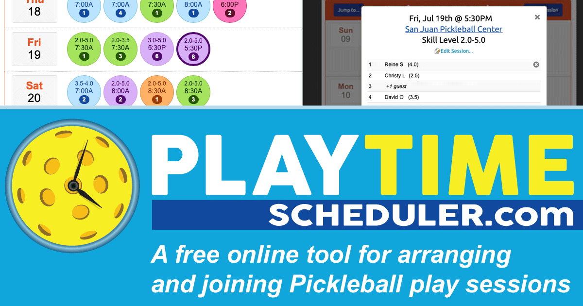 PlayTime Scheduler for Pickleball
